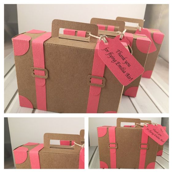 Bon Voyage viaje maleta equipaje de papel por PaperletteDesigns