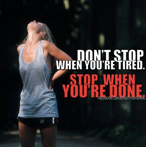 Stop when you are done!