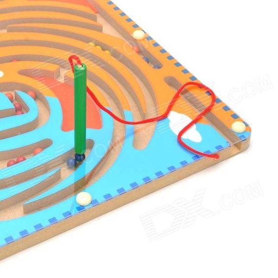 MG804 Labirinto de brinquedo com padrão de dois pássaros - Azul + Laranja