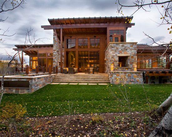 Brilliant Contemporary Rustic Home Design Green Area Located In