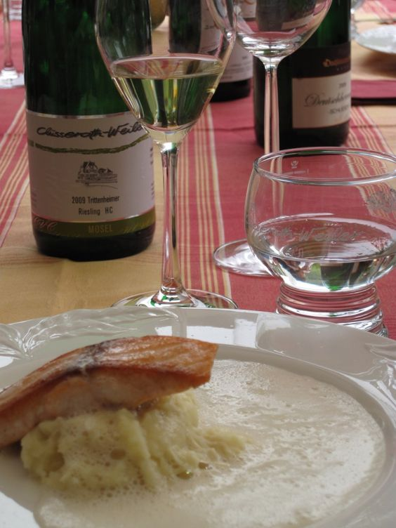 Rieslings and salmon in the Mosel.