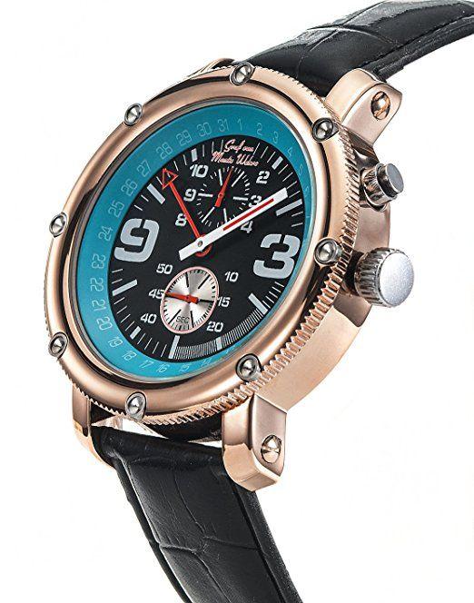 Graf von Monte Wehro AA101558G - Reloj para hombres, correa de cuero color negro: Amazon.es: Relojes-PREFERIDO-