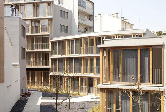 20 logements sociaux expérimentaux, rue des Orteaux, Paris XXe - D'architectures