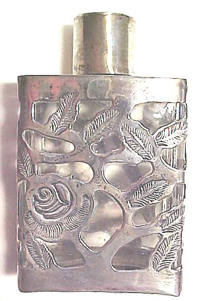 Image Detail for - Sterling Silver Vintage Perfume Bottle ROSES Largelooks to me like booze bottle
