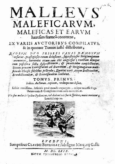 Portada del Malleus maleficarum en una edición de 1669