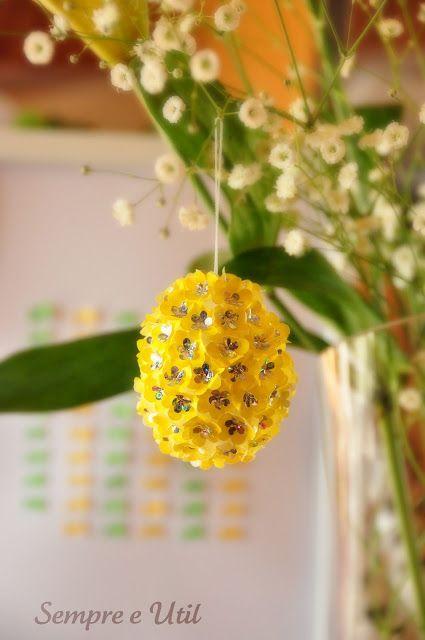 Sempre e Útil: Ovo com Flores - Tutorial