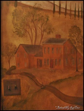Rufus Porter Inspired Primitive Colonial Wall Mural