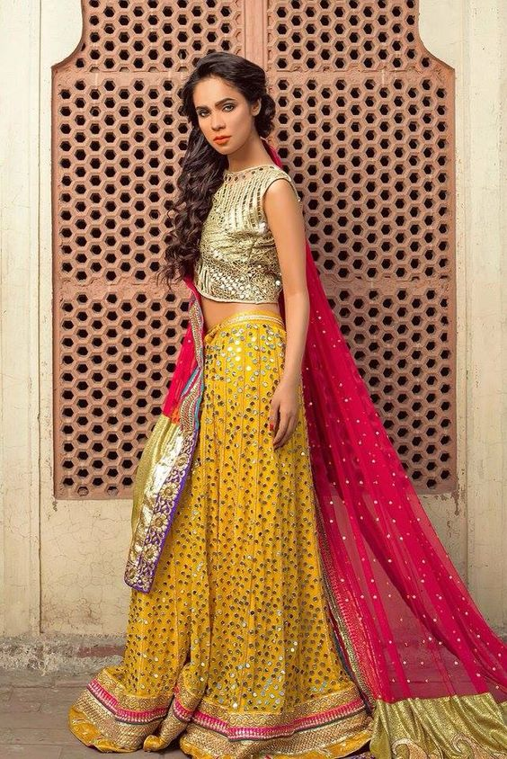Pak Couture love the color and all that mirror work