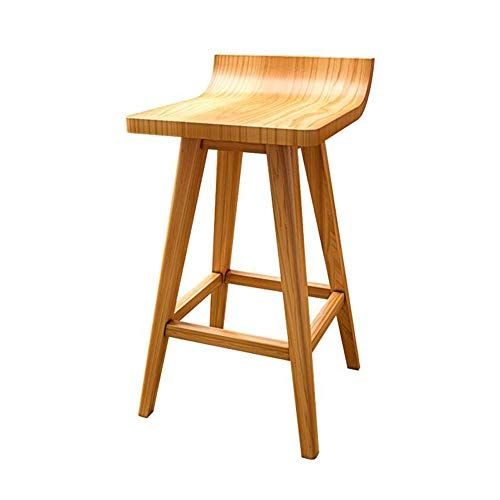 Asdsa Bar Stools Cjc Seat Solid Wood Frame Chairs Home Kitchen Breakfast Counter Footrest Size 43 41 45cm C Modern Bar Stool Design