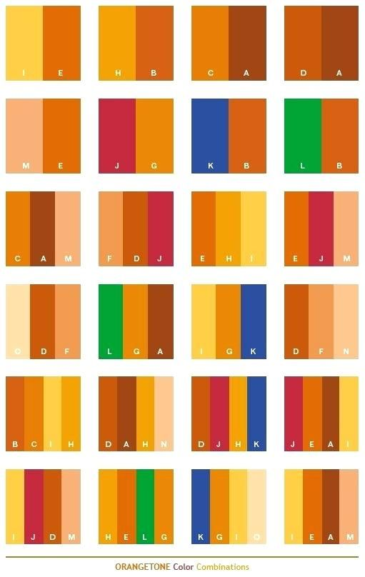 Colors That Compliment Orange Brick What Colors Go With