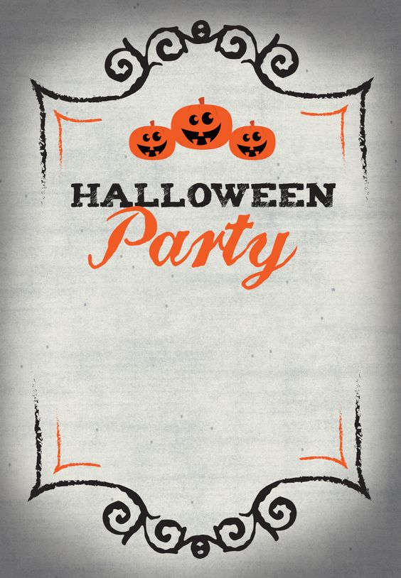 Just add your details to this Halloween Party invitation - free printable!