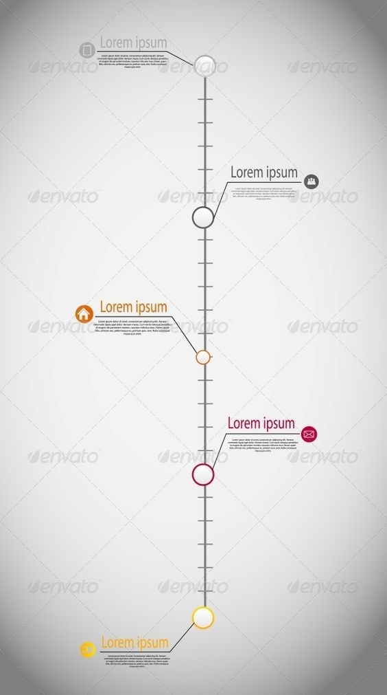 Timeline Infographic Business Template Vector Yazıtipleri - business timeline template