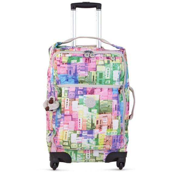 Darcey Small Wheeled Luggage - Cityscape   Kipling