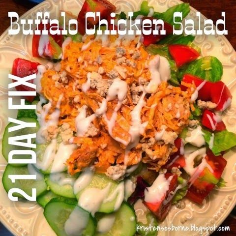 Buffalo Chicken Salad - 21 Day Fix Approved - 2 Green, 1 Red, 1 Orange, 1 Blue
