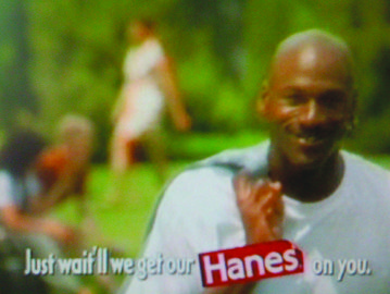 Shot this commercial with Michael Jordan for Hanes at an investment bankers house in Lake Forest.  Original idea was to show the other guys the girls were commenting on.  But when you don't see them, it leaves more to the imagination and more focus on Michael.  Highest scoring Hanes spot of all time.