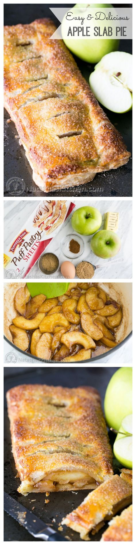 Caramelized apples wrapped in flaky puff pastry dough. So EASY and delicious!