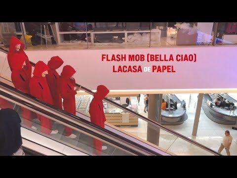 Flash Mob Bella Ciao Lacasa De Papel Cyprus Youtube En 2020 Chanson Dalida