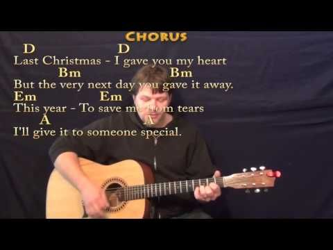 Last Christmas Wham Strum Guitar Cover Lesson In D With Chords Lyrics Youtube Guitar Lessons Mandolin Lessons Banjo Lessons