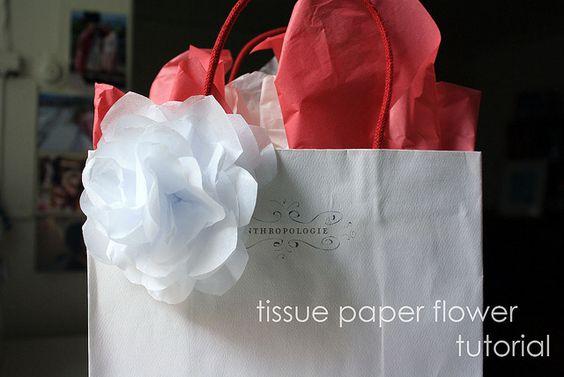tissue paper flowers..