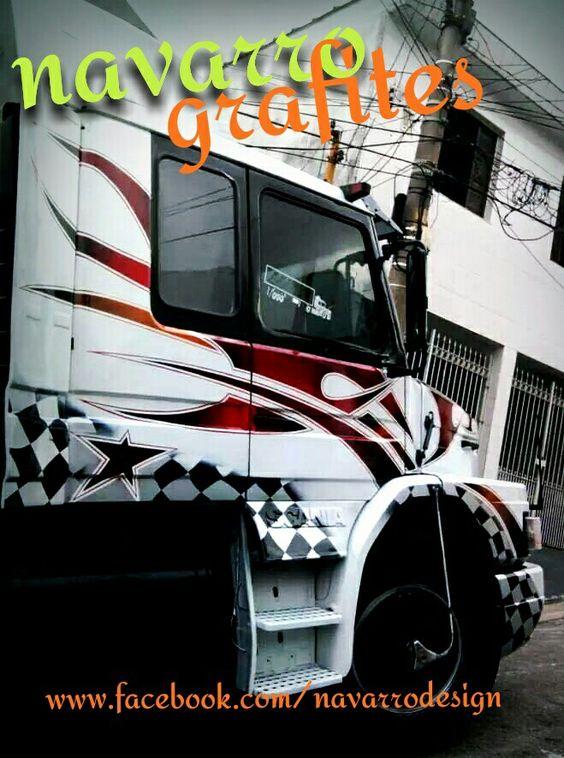 Aerografia em caminhões