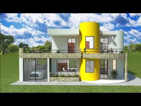 Diseños Planos De Una Casa Moderna De Dos Pisos Con Garaje Y