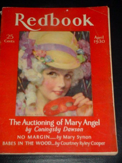 Vintage Art Deco Ladies Fashion Magazine Red by SimplyCottageChic, $25.00