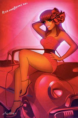 The Pin Up Art of Santiago: Pin Up and Cartoon Girls