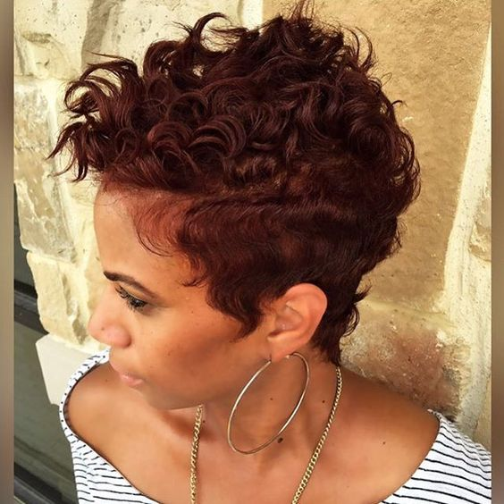 Beautiful cut c/o @khimandi ❤️ #pixiecut #softcurls #shorthair #DallasStylist #flycut #thecutlife