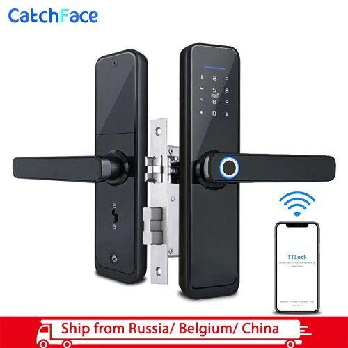 Wifi Bluetooth Unlocking Fingerprint Door Lock In 2020 Fingerprint Door Lock Fingerprint Lock Door Locks