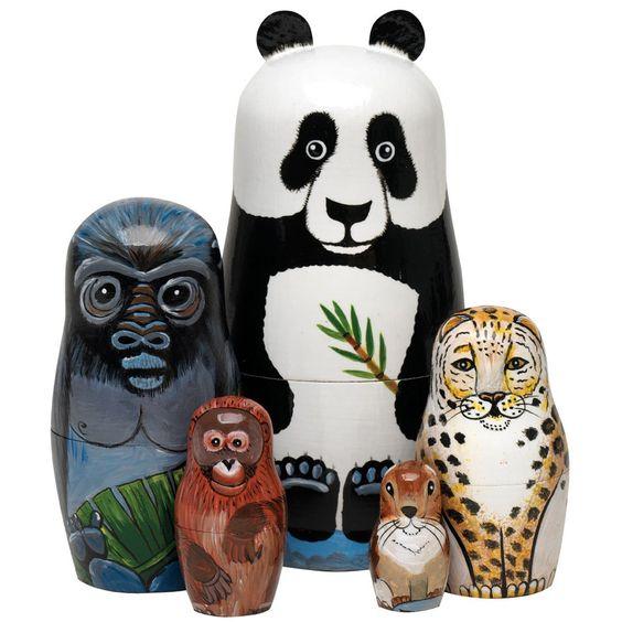 Nesting Endangered Species Animal Set