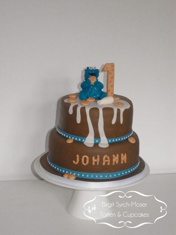 Birthday Cake Krümelmonster Sesamstraße