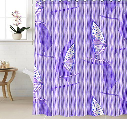 48 X72 Cartoon Sailboat Fashion Shower Curtain The Sea T Https