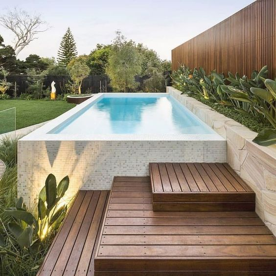 24 Above Ground Pools You Ll Want In Your Backyard Pool Small Backyard Pools Swimming Pools Backyard Above Ground Swimming Pools