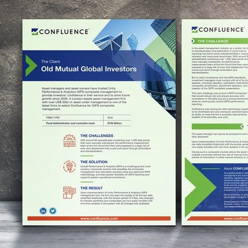 Client Case Study Design 2 Sided Format Confluence Is A Global