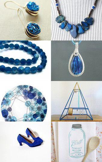 Blue Druzy Glory by DecadesOfVintage on Etsy--Pinned with TreasuryPin.com