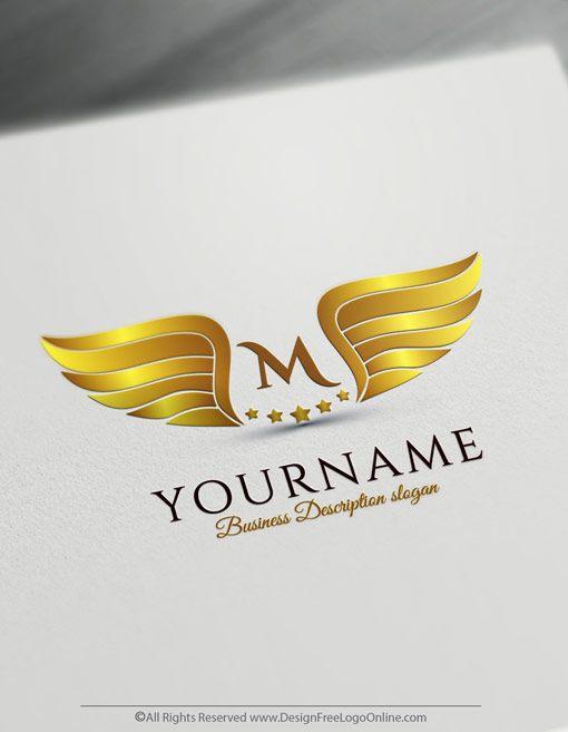 Free Wings Logo Maker Create Wings Logo Design Logo Design Free Logo Design Wings Logo