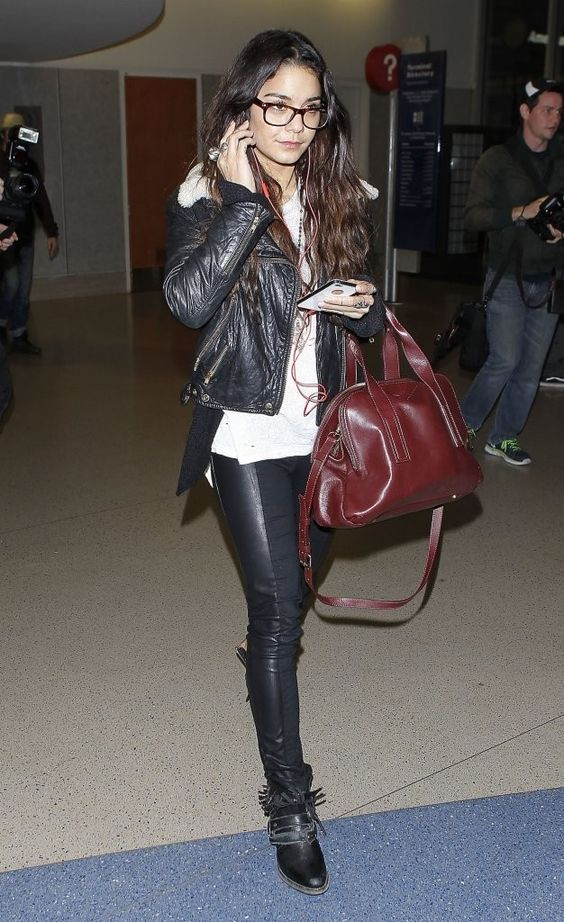 'Kitchen Sink' actress Vanessa Hudgens arriving on a flight at LAX airport in Los Angeles, California on November 15, 2013.