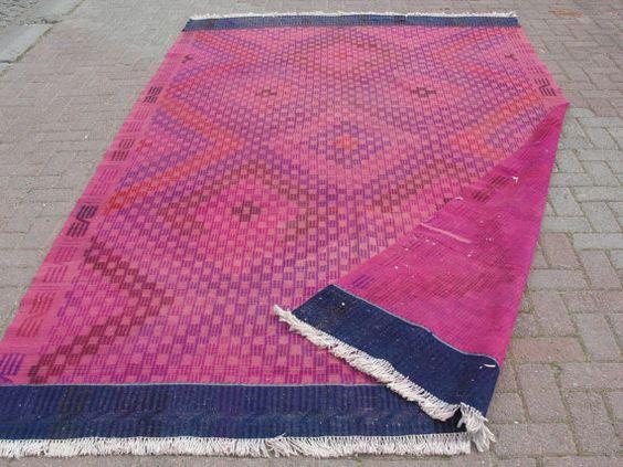 Tapis tapis Kilim turc VINTAGE tapis Kilim tissé à par misterpillow