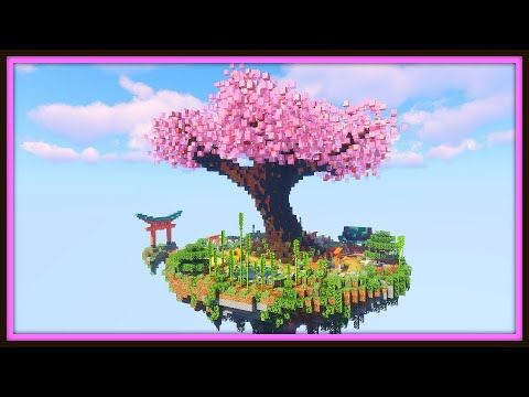 Floating Island Treehouse Base Minecraft Timelapse Youtube Minecraft Tree Floating Island Minecraft Projects