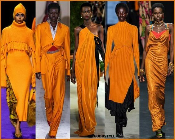 dark cheddar, fashion, color, fall 2019, winter 2020, trend, look, style, details, colores, moda, otoño 2019, invierno 2020, tendencias, pantone