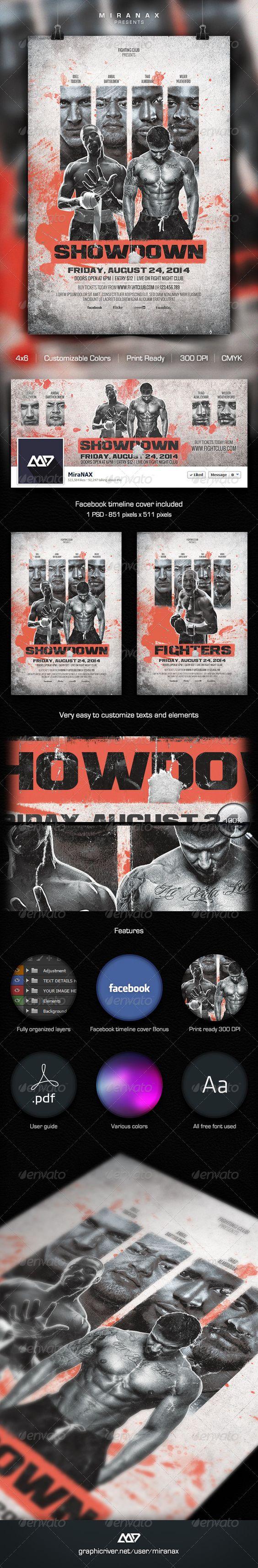 Showdown Fighting Club Flyer Template – Showdown Flyer Template