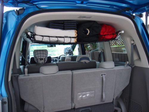 車の天井が積載スペースに 工具不要で値段もお得な インテリアバー