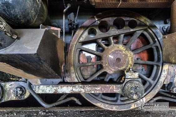 Essieu de bogie d'une locomotive SNCB série 73 - Boreally