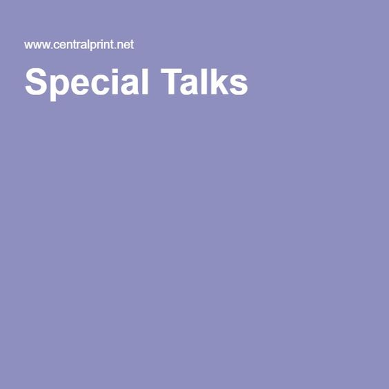 Special Talks