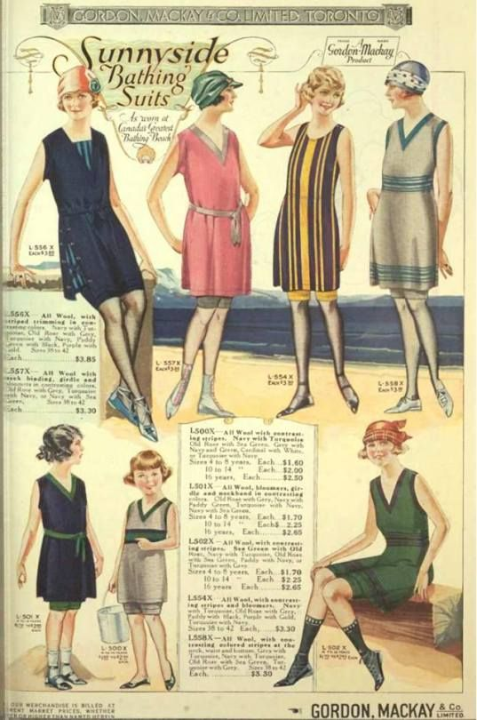 1920's in Pictures - 1922 Bathing suits from Mackay, LTD. Toronto, Canada