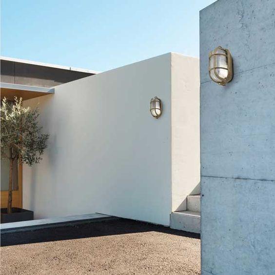 Aplique de exterior cabo con dise o inspirado en los for Iluminacion exterior jardin diseno