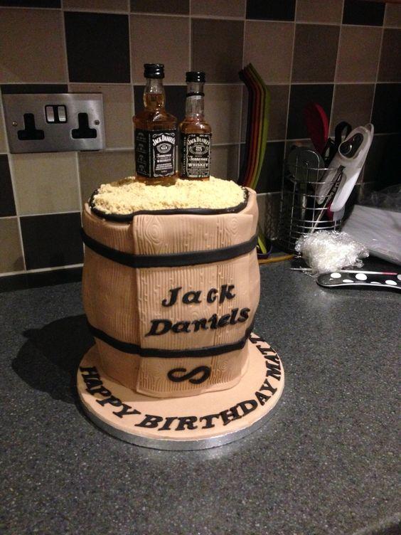 Jack Daniels Birthday Barrel / Keg cake