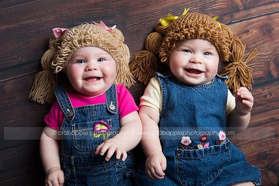Cabbage Patch Hat Wig Hair por AngelsStepbyDaiana en Etsy