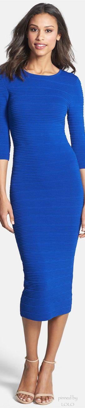 Felicity & Coco Knit Body-Con Midi Dress
