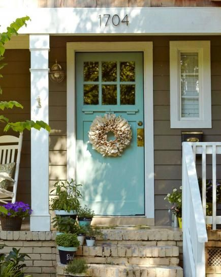 Easy ways to boost curb appeal pinterest exterior - Door colors for brown house ...